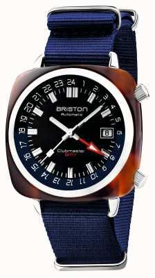 Briston Clubmaster gmt limited edition   automatico   cinturino blu nato 19842.SA.T.9.NNB