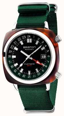Briston Clubmaster gmt limited edition | auto | cinturino verde nato 19842.SA.T.10.NBG