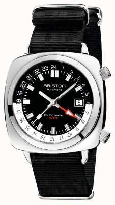 Briston Clubmaster gmt limited edition | auto | cinturino nero nato 19842.PS.G.1.NB