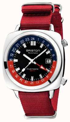 Briston Clubmaster gmt limited edition | auto | cinturino rosso nato 19842.PS.G.P.NR