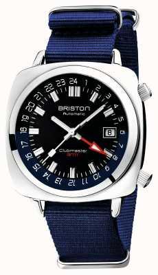 Briston Clubmaster gmt limited edition | auto | cinturino blu nato 19842.PS.G.9.NNB