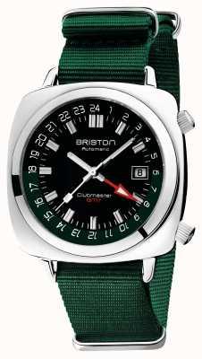 Briston Clubmaster gmt edizione limitata | auto | cinturino nato verde 19842.PS.G.10.NBG