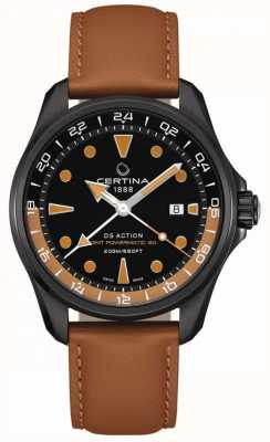Certina | mens ds action powermatic | cinturino in pelle marrone | C0324293605100