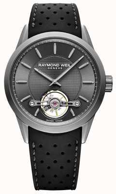 Raymond Weil Mens | quadrante grigio automatico libero professionista | cinturino in caucciù nero | 2780-TIR-60001