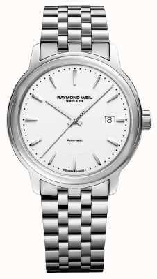 Raymond Weil Mens | maestro | automatico | quadrante bianco | acciaio inossidabile 2237-ST-30011