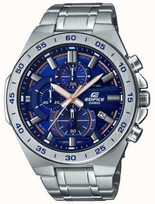 Casio   cronografo da edificio   bracciale in acciaio inossidabile   quadrante blu EFR-564D-2AVUEF
