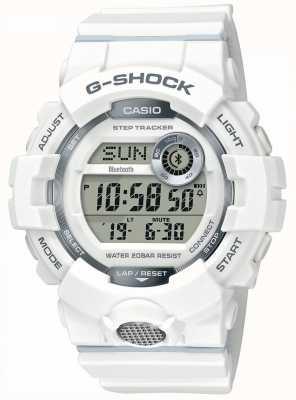 Casio | g-shock | orologio sportivo, step tracker | cinturino in caucciù bianco GBD-800-7ER