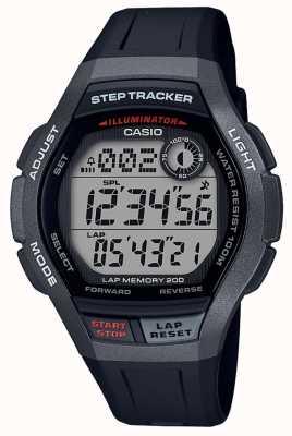 Casio | orologio sportivo, step tracker | cinturino in caucciù nero | WS-2000H-1AVEF