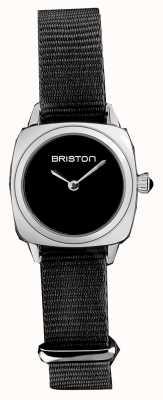 Briston | signora clubmaster | cinturino singolo nato nero | quadrante nero | 19924.S.M.1.NB - SINGLESTRAP