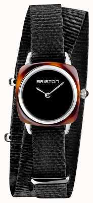 Briston | signora clubmaster | singolo nero nato | acetato di tartaruga | 19924.SA.T.1.NB