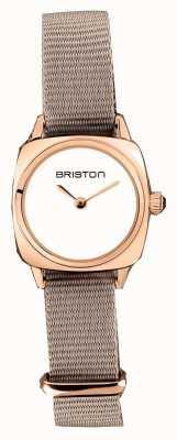 Briston | signora clubmaster | taupe singolo nato | custodia in pvd oro rosa | 19924.SPRG.M.2.NT - SINGLESTRAP