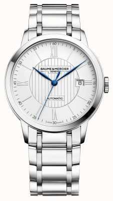 Baume & Mercier | mens classima | automatico | acciaio inossidabile | quadrante argentato BM0A10215