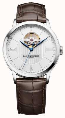 Baume & Mercier | mens classima | pelle marrone | quadrante argentato | automatico | M0A10274