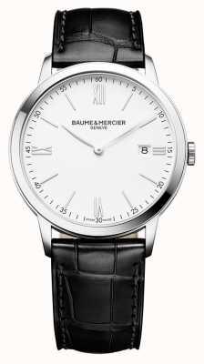 Baume & Mercier | mens classima | cinturino in pelle nera | quadrante bianco | M0A10323