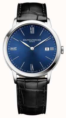 Baume & Mercier | mens classima | cinturino in pelle nera | quadrante blu | BM0A10324