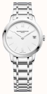 Baume & Mercier | donna classima | bracciale in acciaio inossidabile | quadrante bianco | BM0A10335