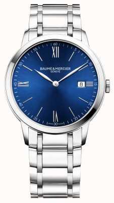 Baume & Mercier | mens classima | bracciale in acciaio inossidabile | quadrante blu | BM0A10382