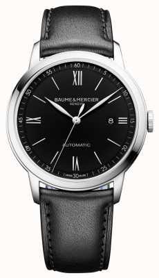 Baume & Mercier | mens classima | automatico | pelle nera | quadrante nero | BM0A10453