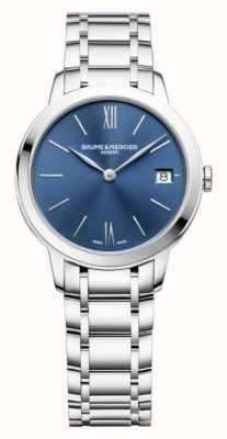Baume & Mercier | classima femminile | acciaio inossidabile | quadrante blu a raggi di sole | M0A10477