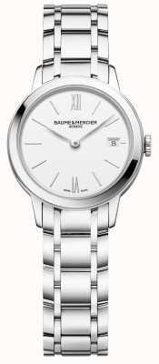 Baume & Mercier | classima femminile | bracciale in acciaio inossidabile quadrante bianco | M0A10489