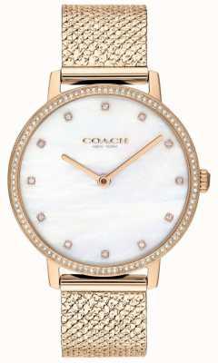 Coach | donne | audrey | maglia pvd oro rosa | quadrante perla | 14503360