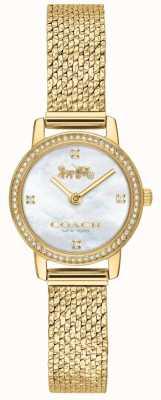 Coach | donne | audrey | maglia pvd oro | quadrante perla | 14503371