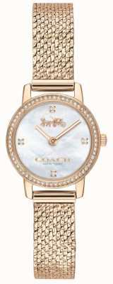 Coach | donne | audrey | maglie pvd oro rosa | quadrante perla | 14503372