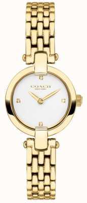 Coach | donne | chrystie | bracciale in oro pvd | quadrante bianco | 14503391