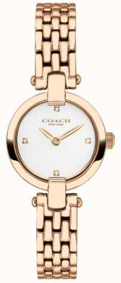 Coach | donne | chrystie | braccialetto pvd oro rosa | quadrante bianco | 14503392