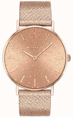 Coach | donne | perry | cinturino metallico | quadrante glitter rosa | 14503322