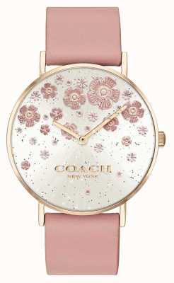 Coach | perry | cinturino in pelle fard | quadrante glitter floreale | 14503325