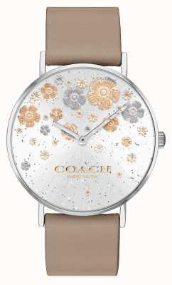 Coach | perry | cinturino in pelle di pietra | quadrante glitter floreale | 14503326