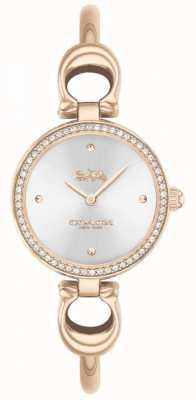 Coach | donne | parco | braccialetto in oro rosa | quadrante argentato | 14503447