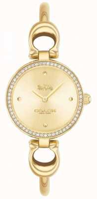 Coach | donne | parco | braccialetto d'oro pvd | quadrante oro | 14503446