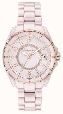Coach | donne | preston | bracciale in ceramica rosa | quadrante rosa | 14503463