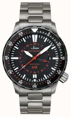 Sinn Timer di missione in acciaio inox U2 sdr 1020.040bracelet