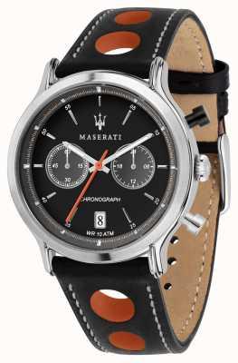 Maserati | epoca da corsa 42mm | cinturino in pelle nera | quadrante nero | R8851138003