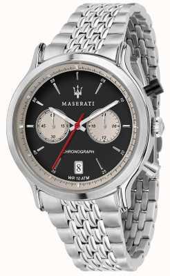 Maserati | epoca da corsa 42mm | bracciale in acciaio inossidabile | quadrante nero R8873638001