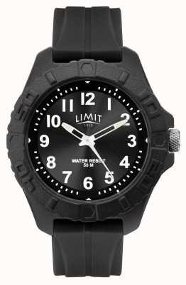 Limit | analogo adulto attivo maschile | cinturino in caucciù nero | 5754.01