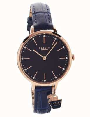 Radley | cassa da donna in oro rosa | cinturino in pelle blu | RY2798