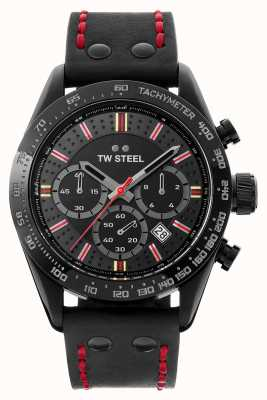 TW Steel Figlio del tempo moksha | cronografo | quadrante nero | pelle nera TW987