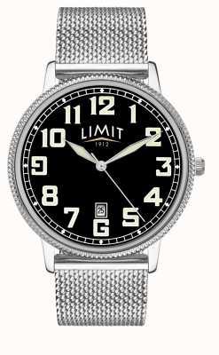 Limit | bracciale in acciaio inossidabile da uomo | quadrante nero | 5748.01