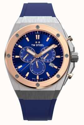 TW Steel Ceo tech | cronografo | quadrante blu | cinturino in gomma blu CE4046
