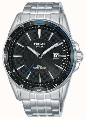 Pulsar | sport acceleratore | bracciale in acciaio inossidabile | quadrante nero PX3203X1