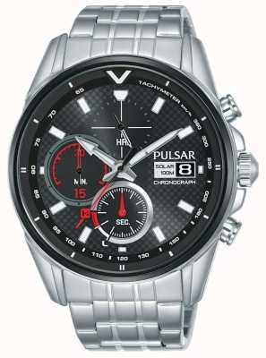 Pulsar   cronografo acceleratore   acciaio inossidabile   quadrante nero   PZ6027X1
