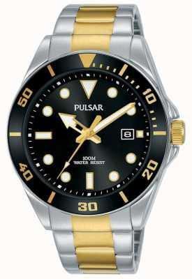 Pulsar | sport casuale | bracciale in acciaio inossidabile quadrante nero | PG8295X1