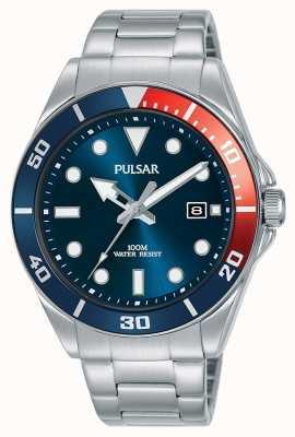 Pulsar | sport casuale | bracciale in acciaio inossidabile | quadrante blu | PG8291X1