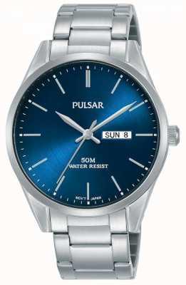 Pulsar | uomo giorno / data | bracciale in acciaio inossidabile | quadrante blu | PJ6109X1
