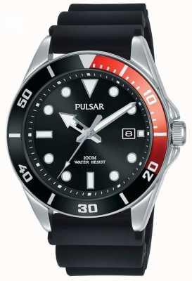 Pulsar | sport casuale | cinturino in caucciù nero | quadrante nero | PG8297X1