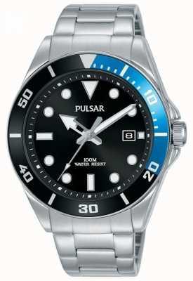 Pulsar | sport casuale | bracciale in acciaio inossidabile quadrante nero | PG8293X1